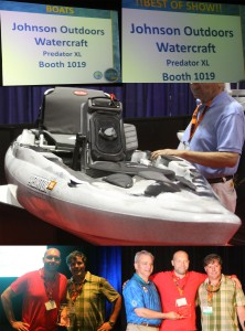 Johnson Outdoors' Predator XL kayak took top honors at iCast 2014 as Best Watercraft and Best in Show
