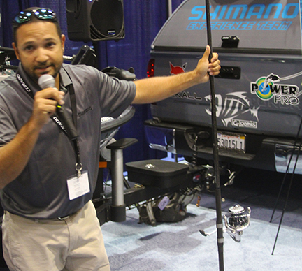 Shimano surf specialist Ray Leyva introduces the new Shimano Surf System at ICAST 2014
