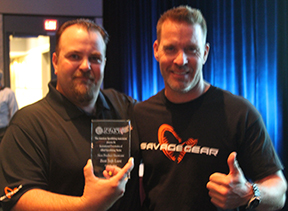 Mike Bennett (left) and Mads Grossel of Savage Gear
