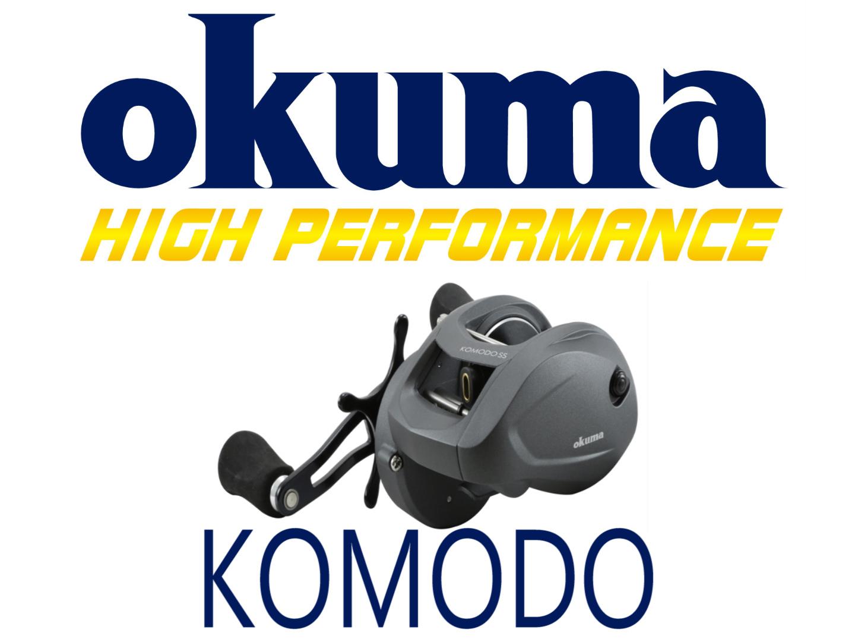 okuma logo. okuma has introduced the new komodo ss baitacsting reel . original 350 size baitcast reels been recipient of tremendous accolades. logo